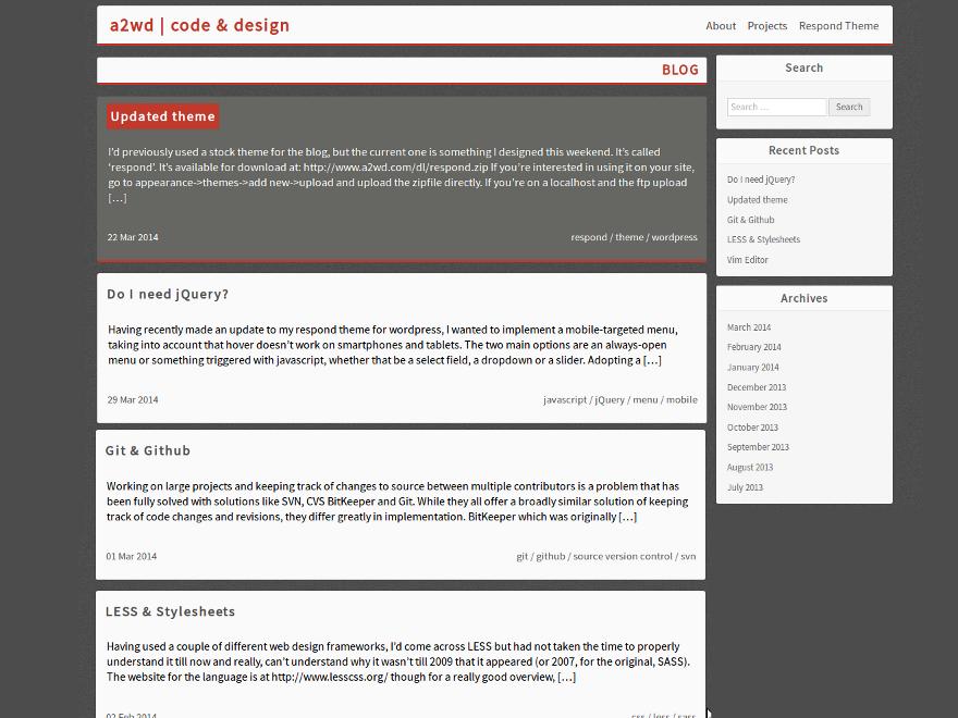 Respond WordPress Theme